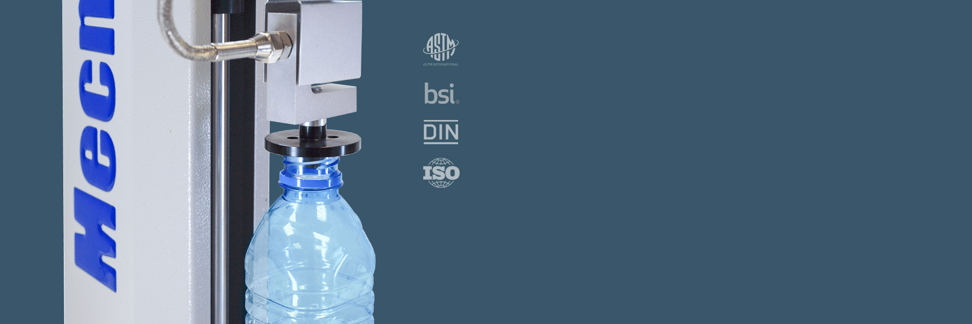 MultiTest with ILS loadcell performing top-load test on PET bottle (ISBT Rev. 1)